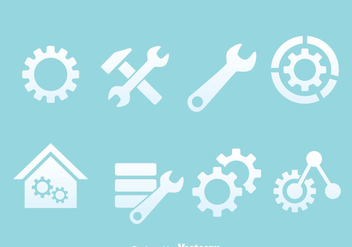 Service Tools Icons Vectors - Free vector #372437