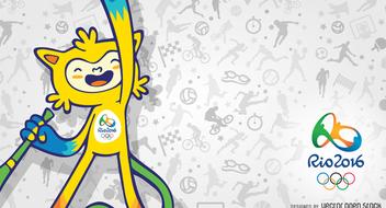 Vinicius Rio 2016 mascot banner - Free vector #372507
