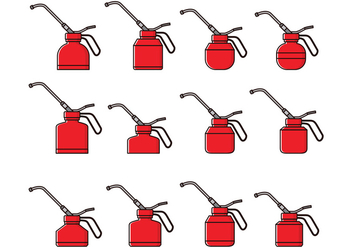 Oil Can Free Vector - Free vector #372887