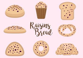Free Raisins Bread Vectors - Free vector #373027