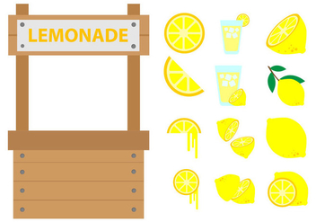 Free Lemonade Stand Vector - Free vector #373237