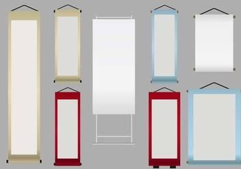 Kakemono Banner Set - Kostenloses vector #373257