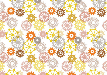 Free Clock Parts Pattern Vectors - Free vector #373457
