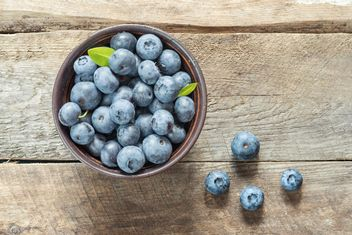 Blueberriesin basket - image gratuit #373537
