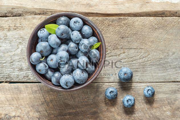 Blueberriesin basket - Free image #373537