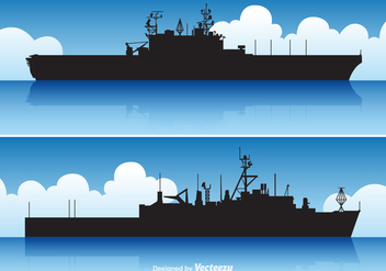 Free Vector Aircraft Carrier Set - Free vector #373677