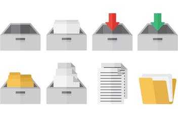 Free File Cabinet Icons Vector - бесплатный vector #373687