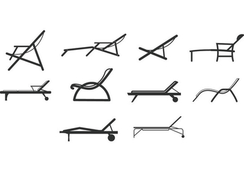 Free Beach Chair Icons - vector gratuit(e) #373717