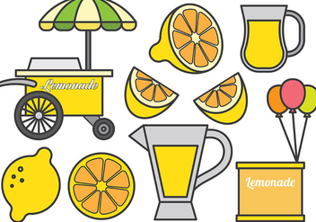 Free Lemonade stand icons Vector - Free vector #373767