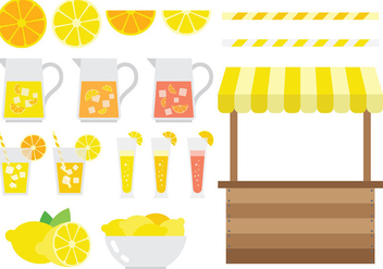 Free Lemonade Stand Icons Vector - Free vector #373777