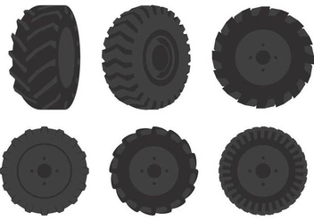 Tractor Tire Illustration - vector gratuit #373847