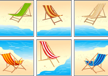 Deck Chair Vector Set - Free vector #373897