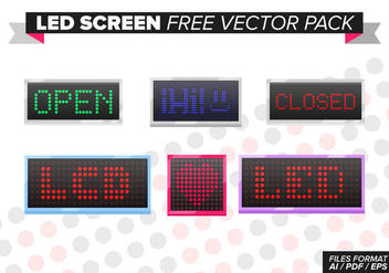 Led Screen Free Vector Pack - Kostenloses vector #373927