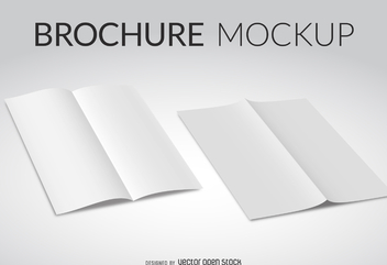 White brochure mockup - Free vector #373967