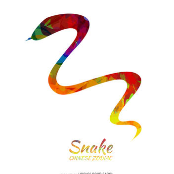 Chinese zodiac snake illustration - vector gratuit #374007