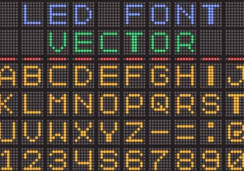 Led Screen Vector Font - Kostenloses vector #374207