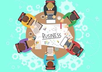 Business Teamwork - Free vector #374277