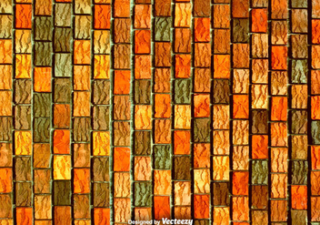 Red Orange And Brown Vertical Bricks - Vector Texture - vector gratuit #374367