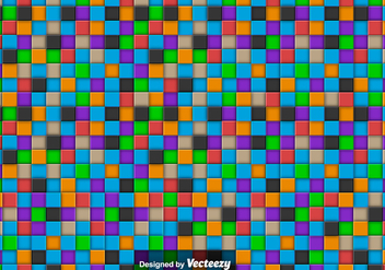 Vector Abstract Background With Colorful Tiles - Kostenloses vector #374407
