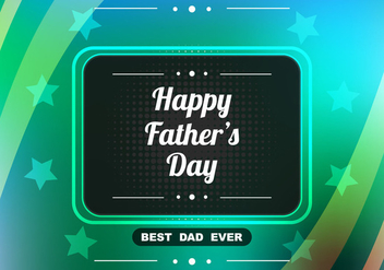 Free Vector Shiny Colorful Father's Day Background - Free vector #374457