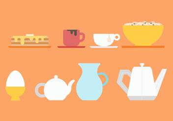 Free Pancake Breakfast Vectors - vector gratuit #374667