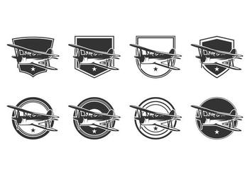 Free Biplane Logo Template Vector - Free vector #374937