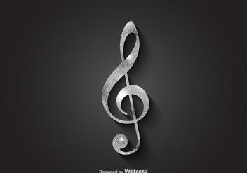 Free Silver Vector Violin Key - Free vector #374947