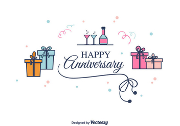 Anniversary Vector Background - vector gratuit #375347