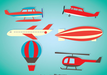 Air Plane Vector Sets - vector gratuit #375397