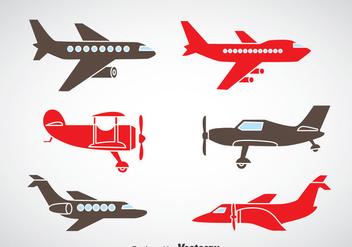 Plane Icons Vector - бесплатный vector #375437