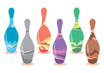 Bowling Alley Vector Set - Kostenloses vector #375537