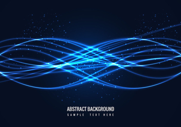 Free Vector Abstract Shiny Blue Wave Background - Kostenloses vector #375837