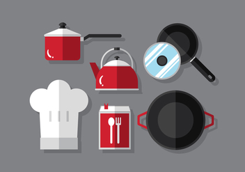 Vector Cooking Set - vector gratuit #376037