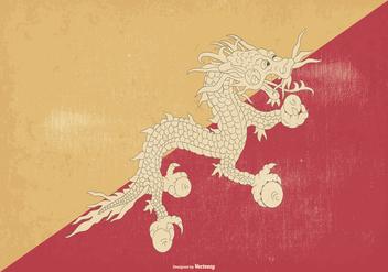 Vintage Bhutan Flag - Free vector #376137