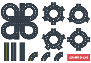 Road Map Tookit - Free vector #376147