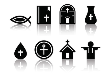 Free Minimalist Eucharist Icons - Free vector #376237