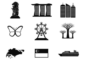 Free Singapore Icons Vector - Free vector #376277