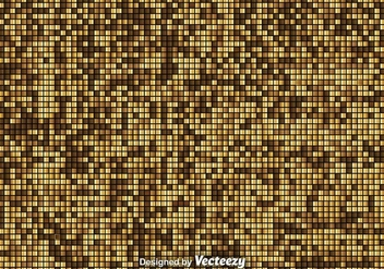 Vector Golden Mosaic Background - Free vector #376357