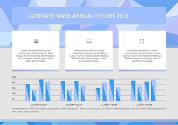 Free Annual Report Vector Presentation 6 - бесплатный vector #376587