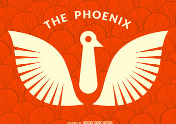 Bird phoenix logo - Free vector #376727