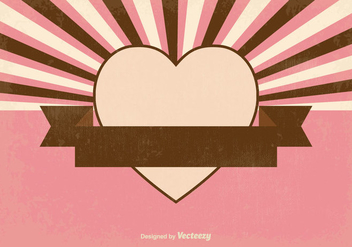 Retro Sunburst Style Heart Background - Free vector #376817