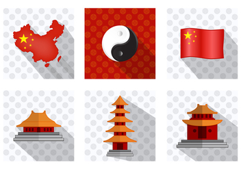 China Town Icon - vector gratuit #376837