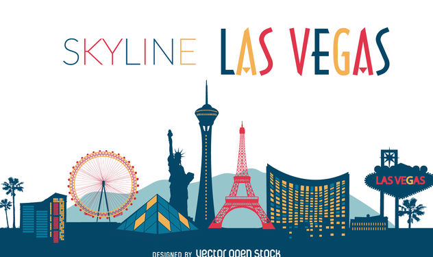 Las Vegas illustrated skyline - vector #376857 gratis
