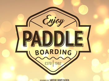 Hipster paddling logo - Free vector #376887