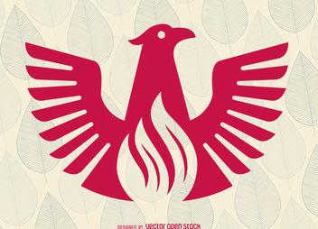 Flat phoenix bird logo - Free vector #376907