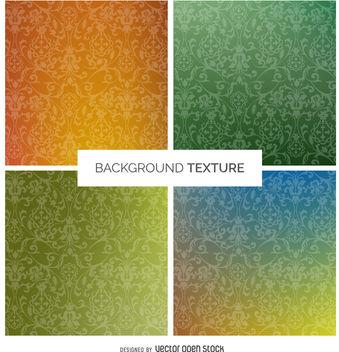 Gradient swirl texture set - Kostenloses vector #376937