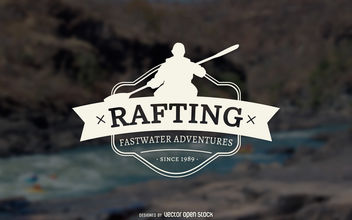 Rafting silhouette logo - Free vector #376967