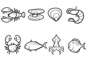 Free Seafood Vectors - Free vector #377027