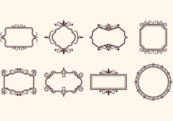 Free Vintage Retro Ornamental Frame Vectors - Free vector #377157