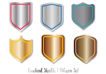 Blason Shield Vector Set Gradient - Free vector #377197